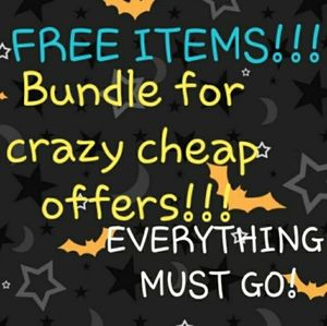 Huge sale!! FREE WITH BUNDLES!!!